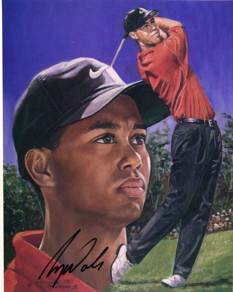 Tiger Woods litho forgery