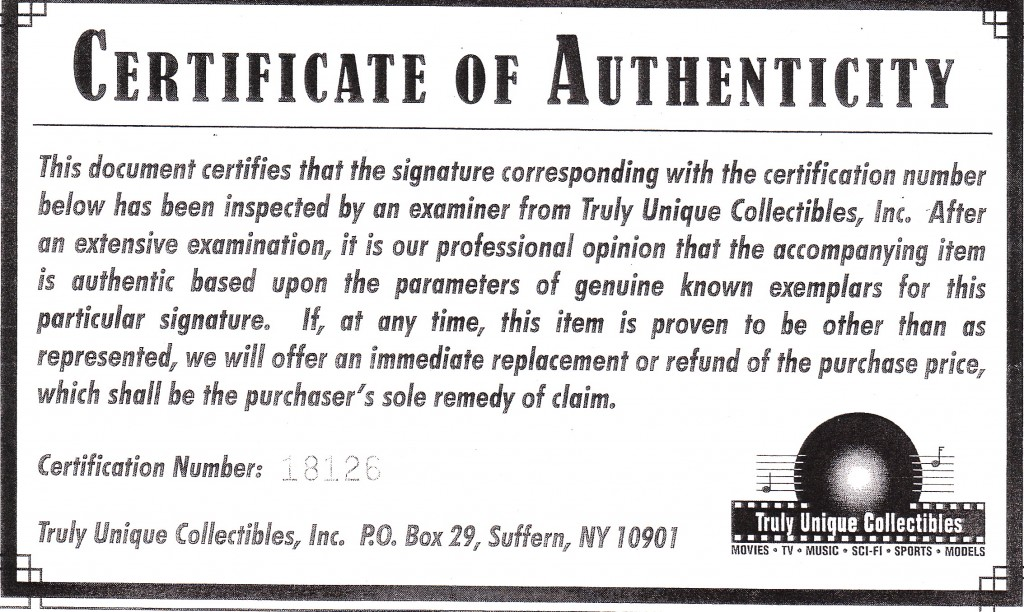 Truly Unique cert