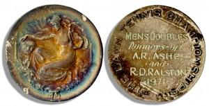 Arthur Ashe Wimbledon doubles medal