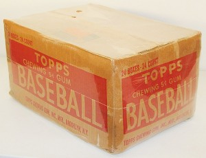 Empty 1952 Topps baseball card case