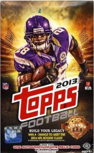 Topps football box 2013