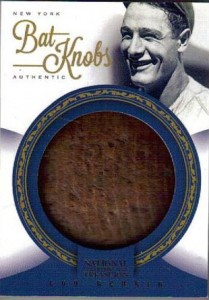 National Treasures Gehrig bat knob card