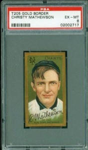 Christy Mathewson T205 tobacco card