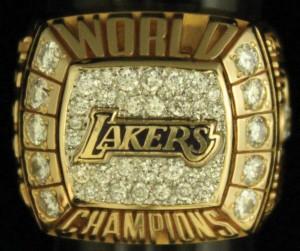 Los Angeles Lakers NBA Championship ring 1999-2000
