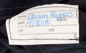 Suit tag Aaron Rogers