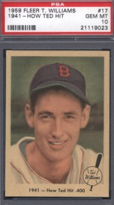 Ted Williams 1959 Fleer PSA 10