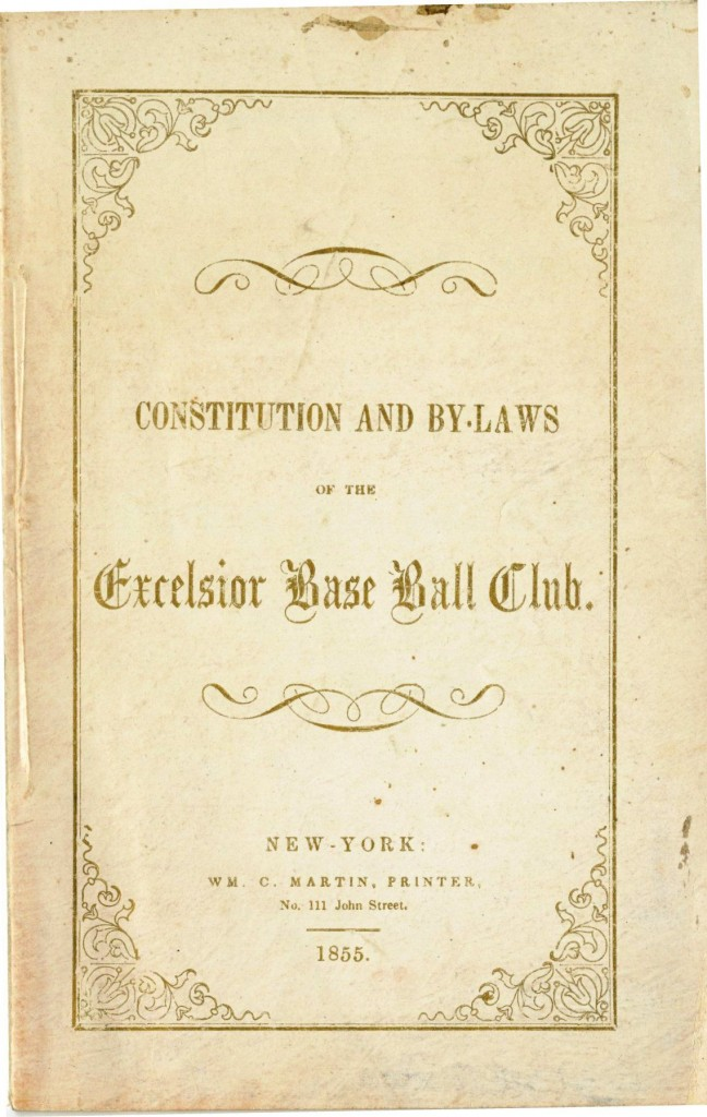 Brooklyn Excelsior Baseball Club Constitution