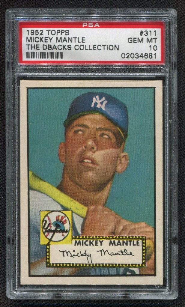 Mickey Mantle 1952 Topps PSA 10