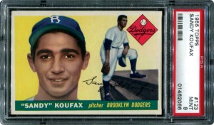 Sandy Koufax PSA 9 rookie card