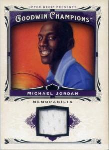 Michael Jordan memorabilia card Goodwin Champions