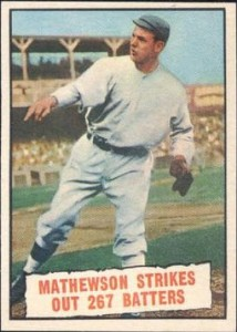 Christy Mathewson strikeout record