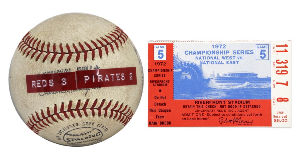 Roberto Clemente game used ball 3000 hits 1972
