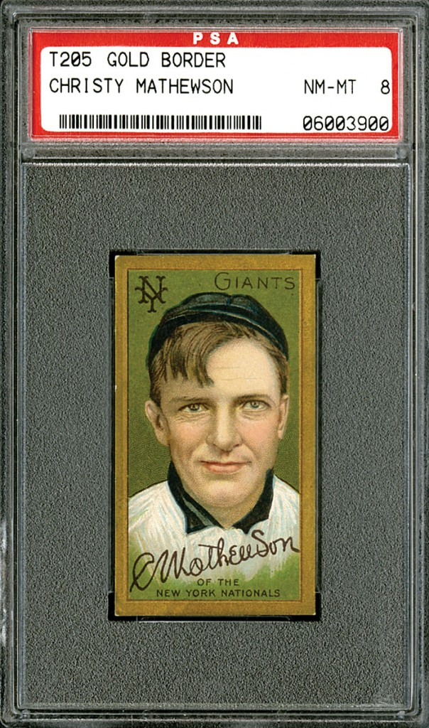 Christy Mathewson T205 PSA 8