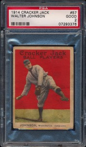 Walter Johnson 1914 Cracker Jack