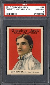Cracker Jack Christy Mathewson PSA 8 1915
