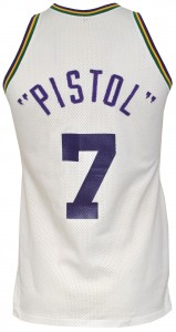 Pistol Pete Maravich game jersey Jazz
