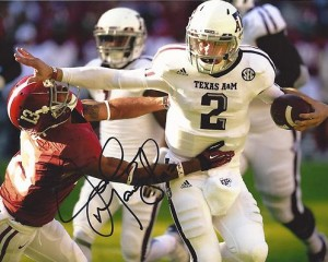 Signed Johnny Manziel photo