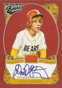 David Stambaugh autograph Bad News Bears