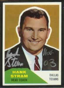 Autographed 1960 Fleer Hank Stram