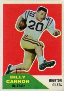 Billy Cannon 1960 Fleer