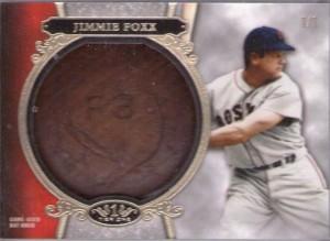2013 Topps Tier One Jimmie Foxx bat knob