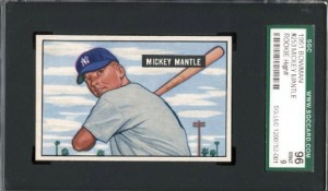 Mickey Mantle rookie card SGC 96 mint