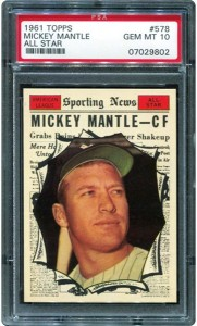 Mickey Mantle All Star 1961 Topps