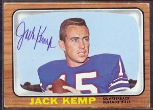 Jack Kemp autographed 1966 Topps football card