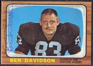 Ben Davidson 1966 Topps autograph