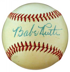 Signed Babe Ruth 8.5 PSA DNA Baseball