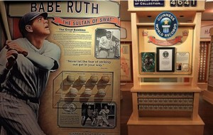 Little Cooperstown Babe Ruth display