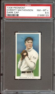 Christy Mathewson T206 dark cap