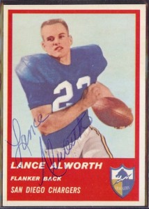 Lance Alworth 1963 Fleer rookie card