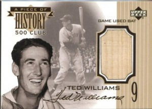 Upper Deck 1999 Piece of History Ted Williams