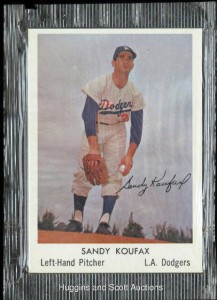 Unopened Sandy Koufax Bell Brand card