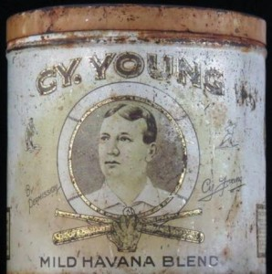 Cy Young Tobacco tin
