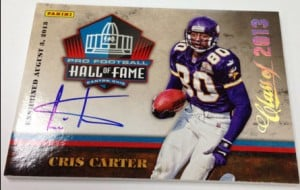 2013 Panini Cris Carter Hall of Fame autograph
