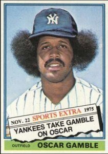 Oscar Gamble 1976 Topps Traded