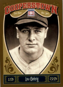 Lou Gehrig Panini Cooperstown