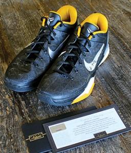 Kobe Bryant game worn signed shoes