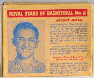 Royal Desserts George Mikan