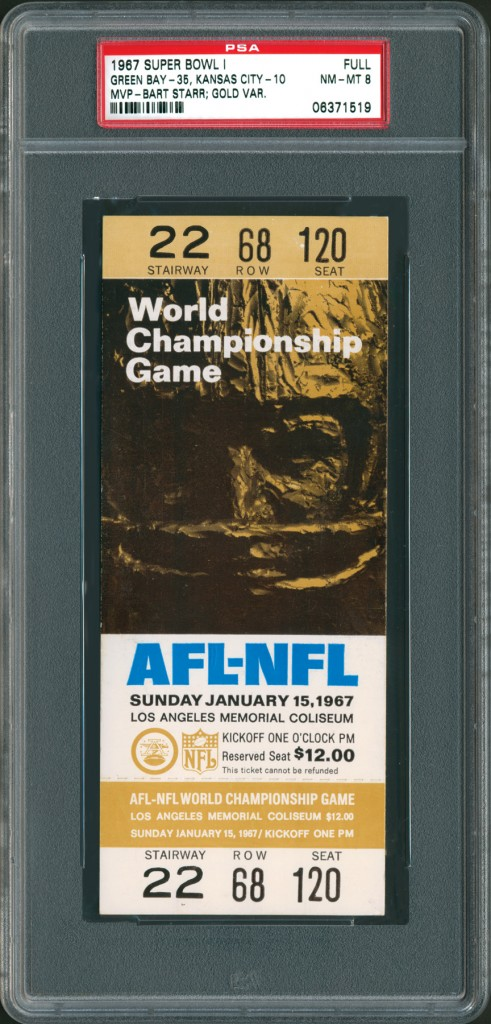 Super Bowl I ticket