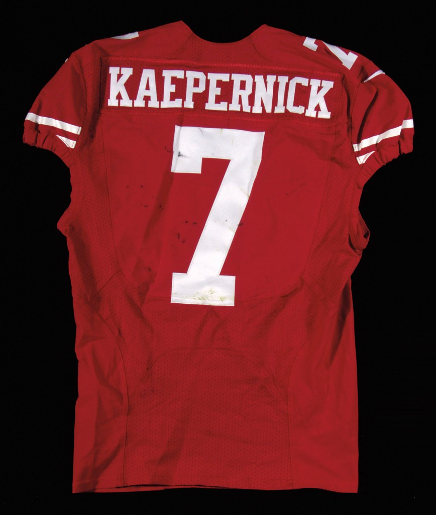 Game worn Colin Kaepernick jersey