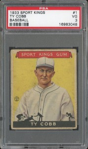 Ty Cobb 1933 Sport Kings