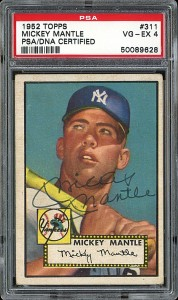 PSA 4 1952 Topps Mickey Mantle