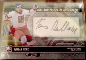 2013-14 Heroes and Prosepcts International auto Tomas Hertl