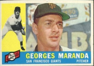 1960 Topps Georges Maranda