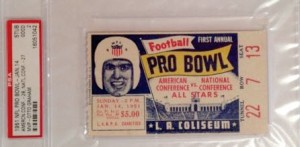 Pro Bowl ticket stub 1951