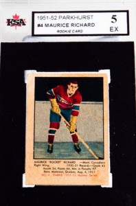 Maurice Richard rookie card 1951-52 Parkhurst