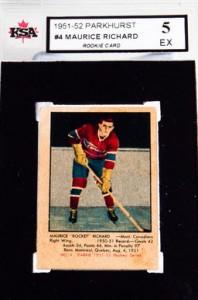 Maurice Richard rookie card 1951-52 Parkhurst